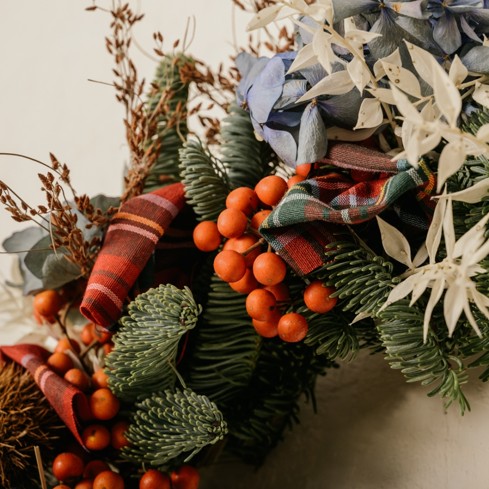 Ghirlanda natalizia in stile British