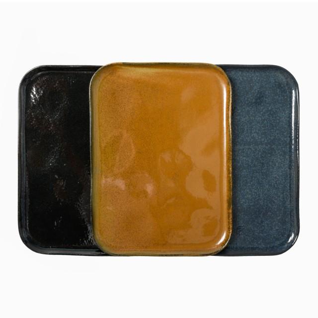 Vassoio in ceramica rettangolare large blu avio