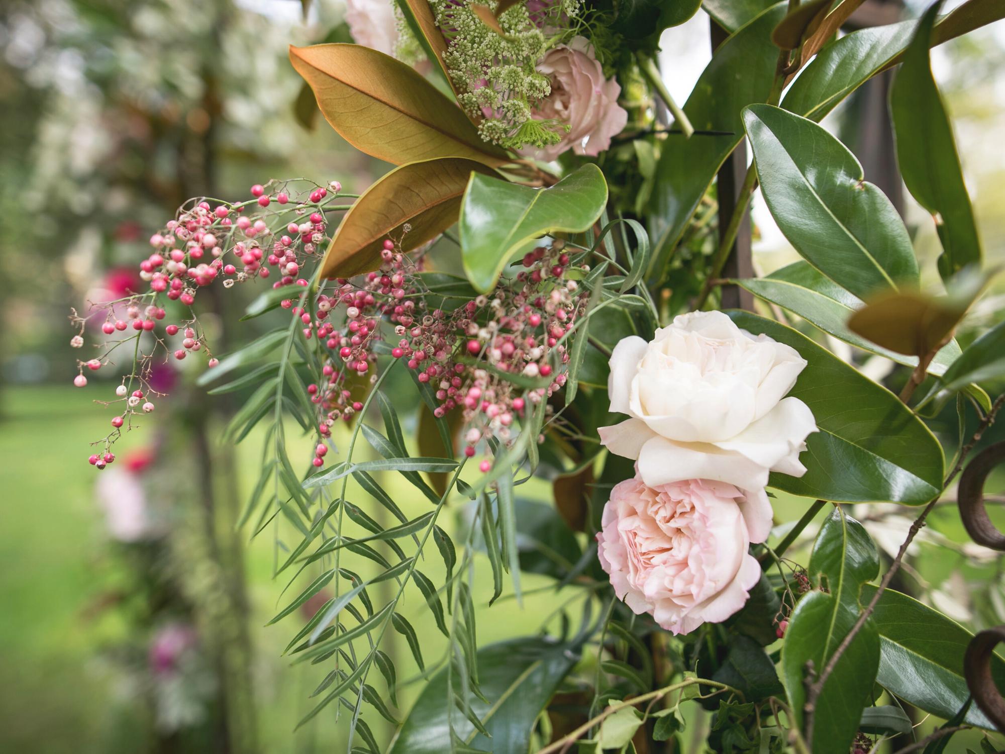 matrimonio estate fiori rose